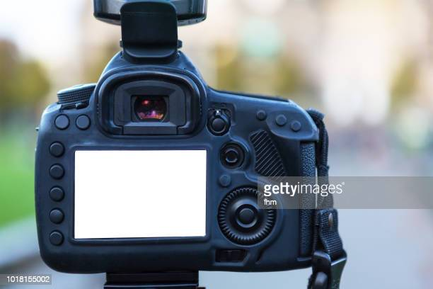 backside of a camera, with blank display - digital camera stock pictures, royalty-free photos & images
