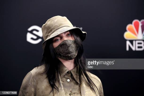 AWARDS Backstage 2020 BBMA at the Dolby Theater Los Angeles California Pictured In this image released on October 14 Billie Eilish attends the 2020...