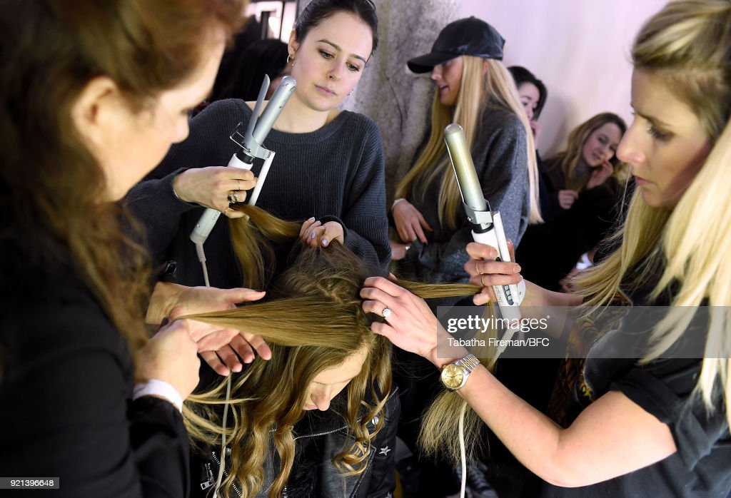 Isa Arfen - Backstage - LFW February 2018