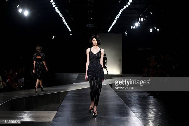 Backstage and atmosphere at the Alexandre Herchcovitch show during Sao Paulo Fashion Week Spring Summer 2013/2014 on March 21 2013 in Sao Paulo Brazil
