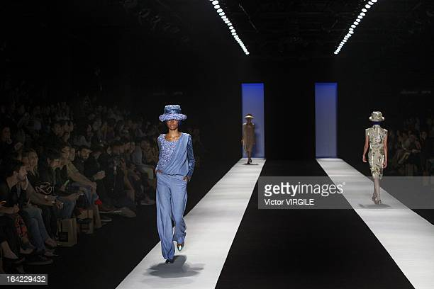 Backstage and atmosphere at the Fernanda Yamamoto during Sao Paulo Fashion Week Spring Summer 2013/2014 on March 20 2013 in Sao Paulo Brazil