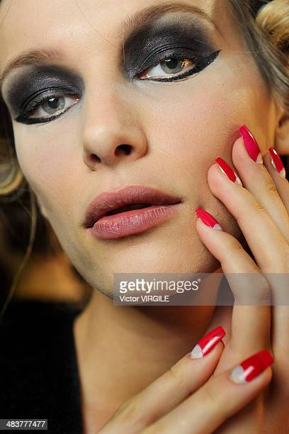 Backstage and atmosphere during Samuel Cirnansck show at Sao Paulo Fashion Week Spring Summer 2014/2015 at Parque Candido Portinari on April 4 2014...