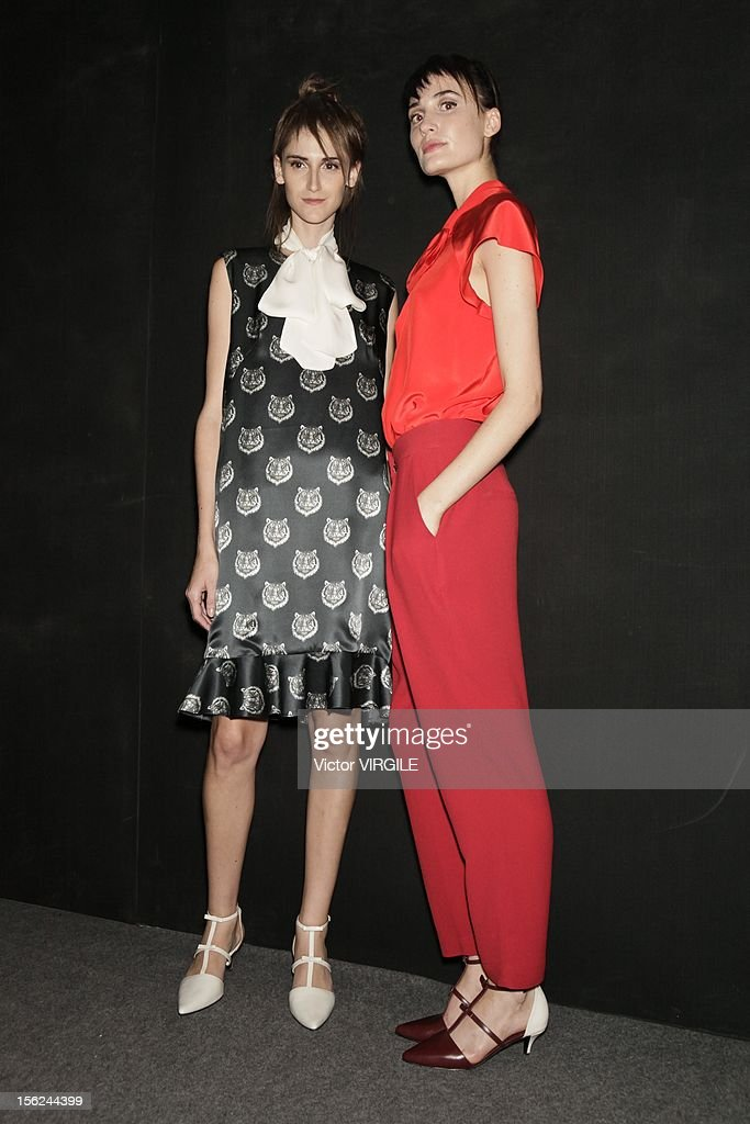 Backstage and atmosphere during the Andrea Marques Fall/Winter 2013 fashion show at Fashion Rio on November 09, 2012 in Rio de Janeiro, Brazil.