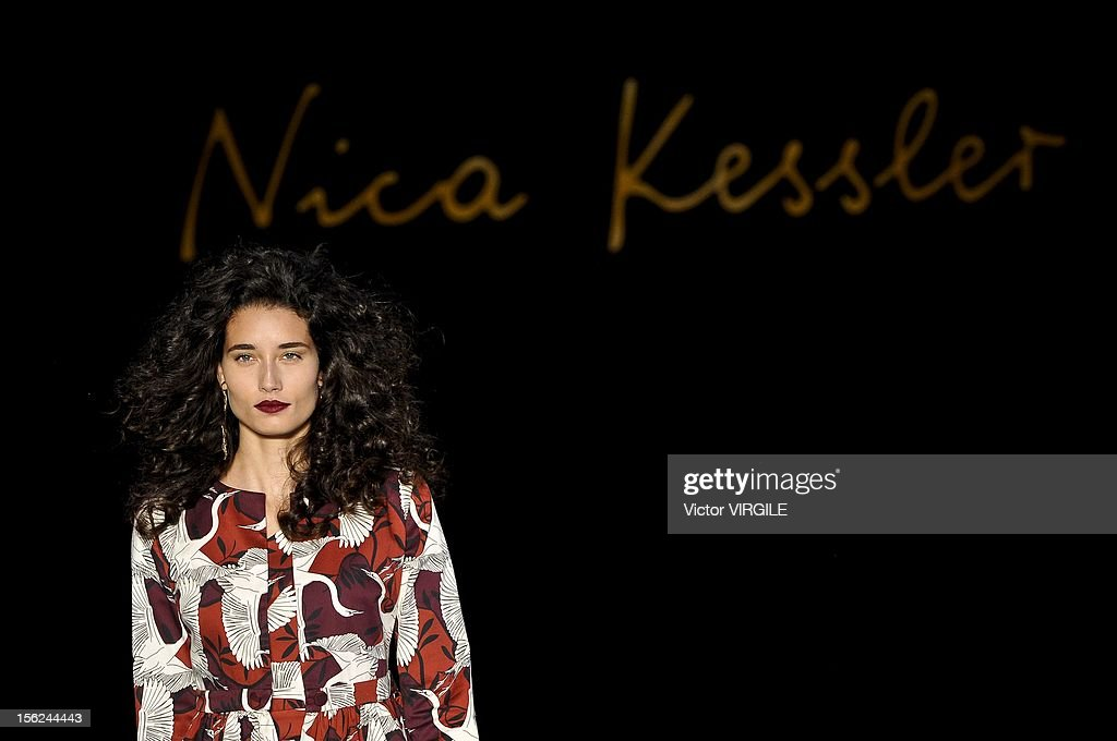 Backstage and atmosphere during the Nica Kessler Fall/Winter 2013 fashion show at Fashion Rio on November 09, 2012 in Rio de Janeiro, Brazil.
