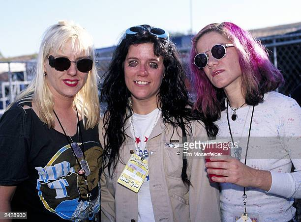 L7 backstage at Lollapalooza 1994 at Shoreline Amphitheater in Mountain View CA on August 28 1994 Photo by Tim Mosenfelder/Getty Images