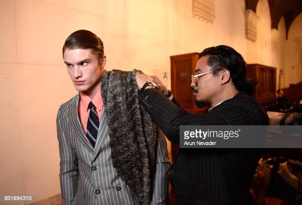 Backstage at Los Angeles Fashion Week Powered by Art Hearts Fashion LAFW FW/18 10th Season Anniversary Backstage and Front Row Day 2 at The MacArthur...