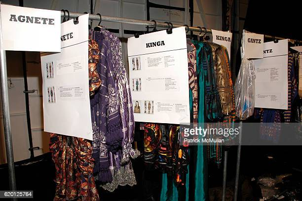 Backstage at the ANNA SUI Fall 2008 Show at The Tent on February 6 2008 in New York City