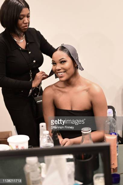 Backstage at the District of Fashion Fall/Winter 2019 Runway Show on February 07 2019 at the National Museum of Women in the Arts in Washington DC
