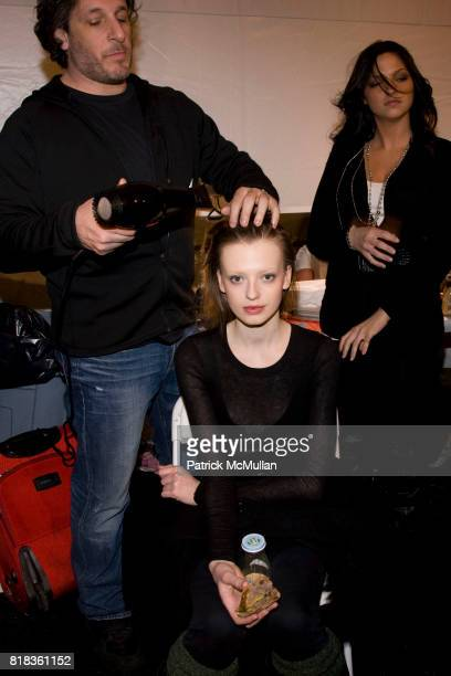 Backstage at the NICOLE MILLER Fall 2010 Collection at Bryant Park Tents on February 12 2010 in New York City