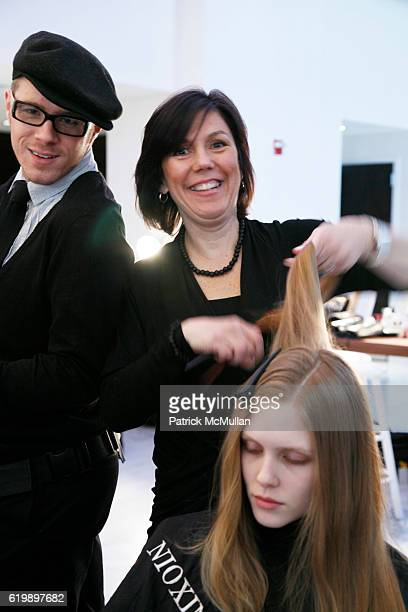 Backstage at the NIOXIN Styles CHRISTIAN COTA Fall/Winter 2008 Fashion Show at ESPACE on February 7 2008 in New York City