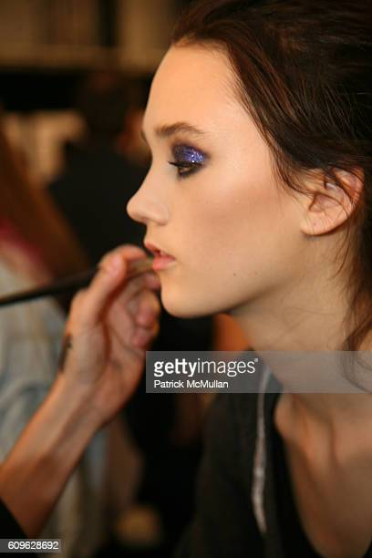 Backstage attends ANNA SUI Spring 2008 Collection at The Tent on September 10 2007 in New York City