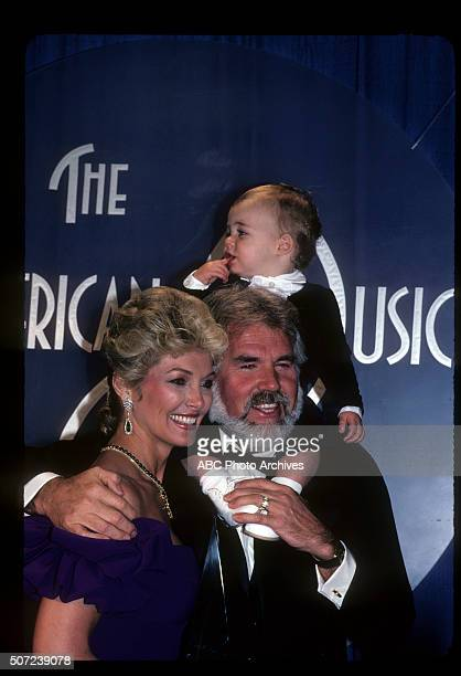 Backstage Coverage - Airdate: January 17, 1983. KENNY ROGERS, FAVORITE COUNTRY MALE ARTIST WITH WIFE MARIANNE GORDON AND THEIR SON CHRISTOPHER ROGERS