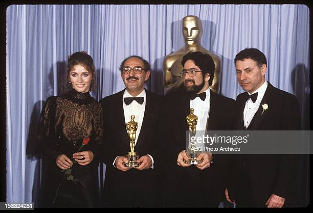 March 31 1981 BEST ANIMATED SHORT WINNER FERENC ROFUSZ AND BEST LIVE ACTION SHORT WINNER LLOYD PHILLIPS WITH