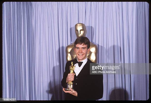 Backstage Coverage - Airdate: March 31, 1981. TIMOTHY HUTTON WITH BEST SUPPORTING ACTOR OSCAR FOR 'ORDINARY PEOPLE'