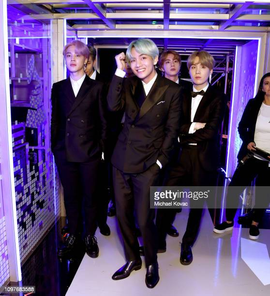 BTS backstage during the 61st Annual GRAMMY Awards at Staples Center on February 10 2019 in Los Angeles California