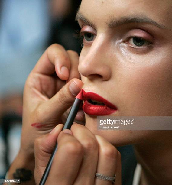 Backstage during the Alexandre Vauthier Haute Couture Fall/Winter 2011/2012 show as part of Paris Fashion Week at Lycee Henri IV on July 5 2011 in...