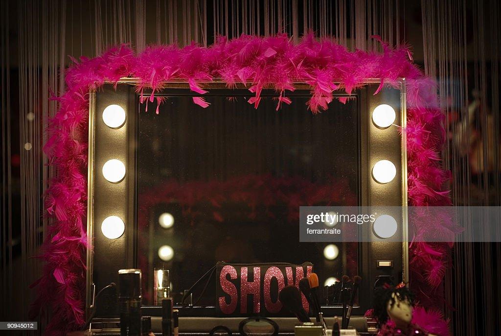 Backstage mirror : Stock Photo