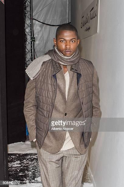 Backstage moment at Emidio Tucci Fashion Show on February 4 2016 in Madrid Spain