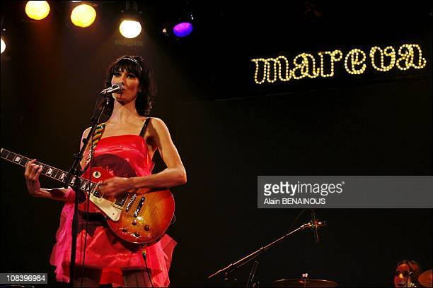 Backstage of the first show of Mareva Galanter in Paris France on February 07 2007