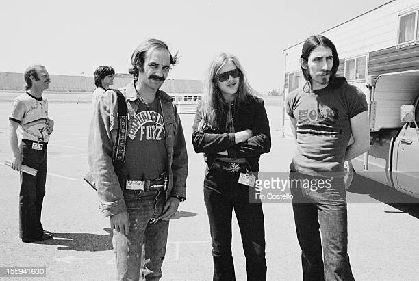 Backstage pass holders at the California Jam rock festival Ontario Motor Speedway Ontario California 6th April 1974