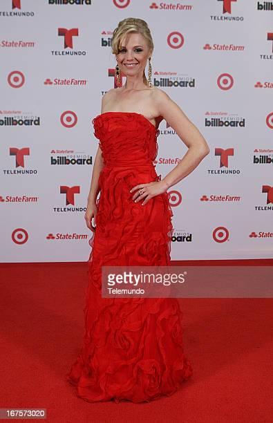 Ana Layevska backstage during the 2013 Billboard Latin Music Awards held at the BankUnited Center University of Miami in Miami Florida on April 25...