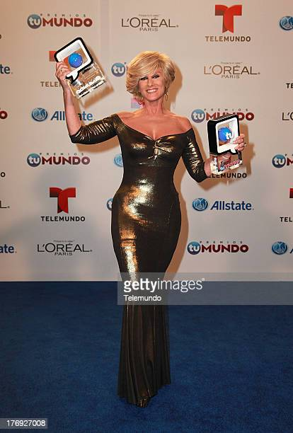 Christian Bach Backstage during the 2013 Premios Tu Mundo from the American Airlines Arena in Miami Florida August 15 2013