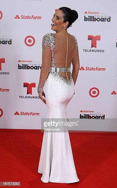 Gaby Espino backstage during the 2013 Billboard Latin Music Awards held at the BankUnited Center University of Miami in Miami Florida on April 25 2013