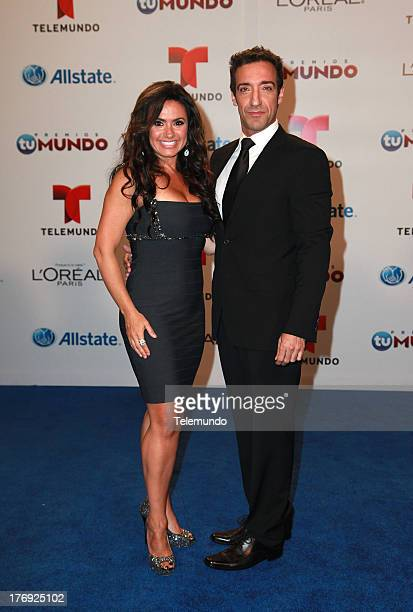 Penelope Menchaca Mala Suerte Backstage during the 2013 Premios Tu Mundo from the American Airlines Arena in Miami Florida August 15 2013
