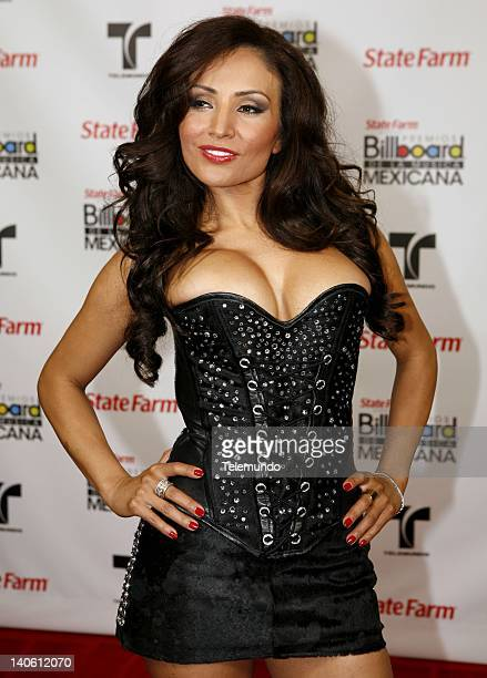 AWARDS Backstage Pictured Silvia del Valle La Bronca poses backstage during the 2011 Billboard Mexican Music Awards held at The Orpheum in Los...