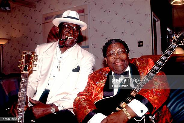Backstage portrait of blues musicians Albert King and BB King Cleveland Ohio February 20 1991