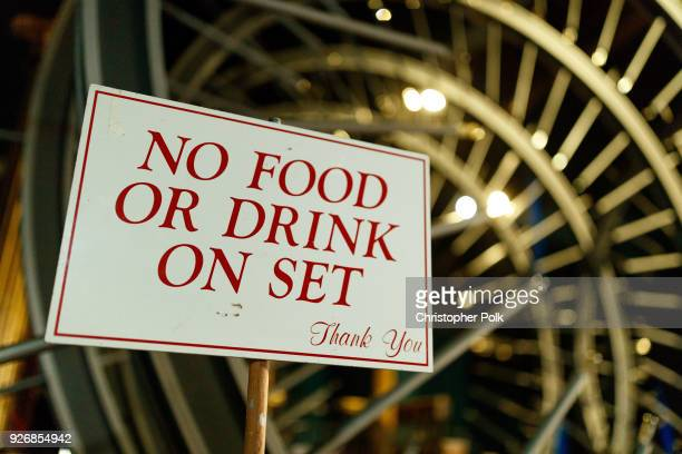 Backstage sign during rehersals for the 90th Oscars at The Dolby Theatre on March 3, 2018 in Hollywood, California.