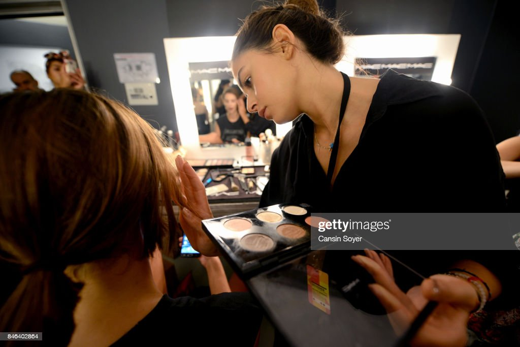A backstage view ahead of the Mehmet Korkmaz show during Mercedes-Benz Istanbul Fashion Week September 2017 at Zorlu Center on September 13, 2017 in Istanbul, Turkey.
