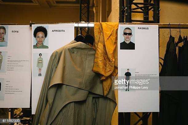 Backstage view prior to the Chalayan show as part of the Paris Fashion Week Womenswear Spring/Summer 2017 on September 30 2016 in Paris France