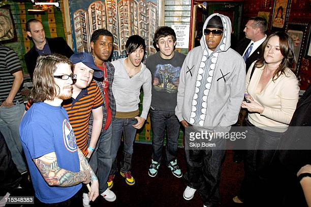Backstage with Fall Out Boy Kenny 'Babyface' Edmonds and JayZ