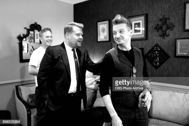 Backstage with Jeremy Renner and James Corden during 'The Late Late Show with James Corden' Thursday August 10 2017 On The CBS Television Network