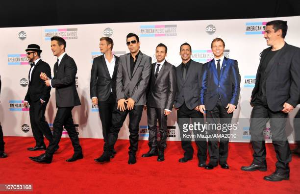 Backstreet Boys and New Kids on the Block arrives at the 2010 American Music Awards held at Nokia Theatre L.A. Live on November 21, 2010 in Los...