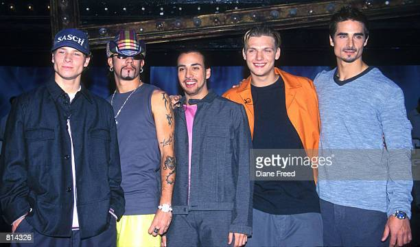 Backstreet Boys announce their World Tour at Studio 54 in New York May 17 1999