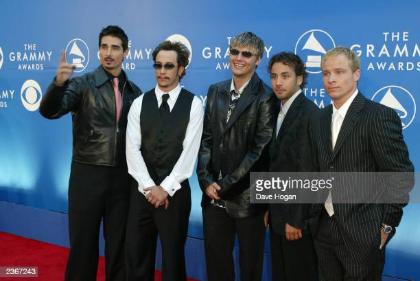 Backstreet Boys arrive at the 44th Annual Grammy Awards at Staples Center in Los Angeles Ca Feb 27 2002