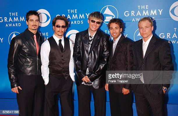Backstreet Boys arrive at the 44th annual Grammy Awards