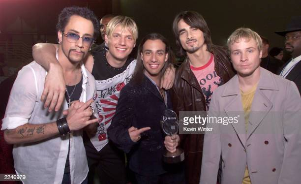 Backstreet Boys at the 2000 Radio Music Awards at the Aladdin Hotel in Las Vegas 11/04/00
