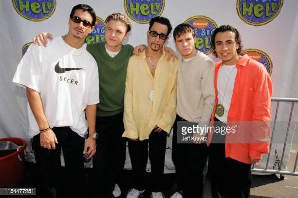 Backstreet Boys Attend The 1997 Nickelodeon Big HelpAThon at The Santa Monica Pier on October 19 1997 in Santa Monica CA