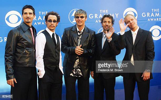Backstreet Boys attend the 44th Annual Grammy Awards at Staples Center February 27 2002 in Los Angeles CA