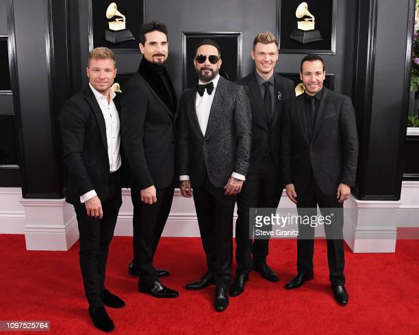 Backstreet Boys attend the 61st Annual GRAMMY Awards at Staples Center on February 10 2019 in Los Angeles California