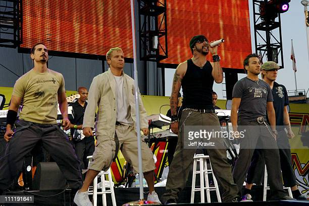 Backstreet Boys during KIIS 1027's Wango Tango at Angel's Stadium in Anaheim California United States