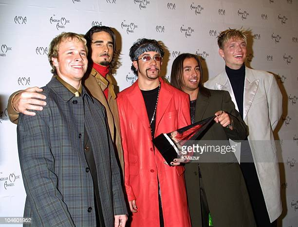 Backstreet Boys during The 28th Annual American Music Awards at Shrine Auditorium in Los Angeles California United States
