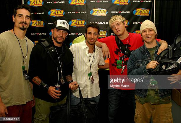 Backstreet Boys during Z100's Zootopia 2004 On 3 Productions Talent Gift Lounge at Madison Square Garden in New York City New York United States