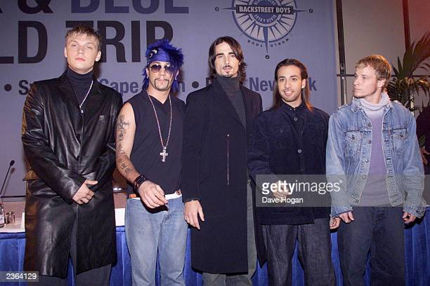 Backstreet Boys in Stockholm for the start of ''Black And Blue '' world tripgoing to Tokyo Sydney Cape Town Rio and New York