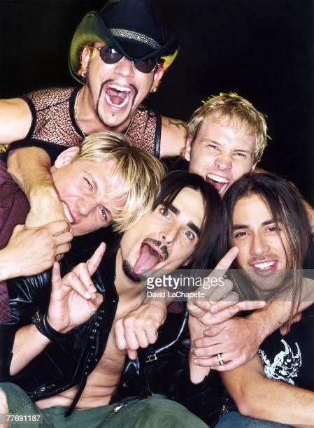 Backstreet Boys Nick Carter Howie Dorough Kevin Richardson Brian Littrell AJ McLean photographed by David LaChapelle for Backstreet Boys Rolling...