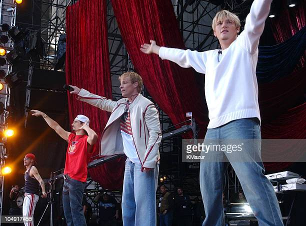 Backstreet Boys perform during United We Stand Concert Show at RFK Stadium in Washington DC United States