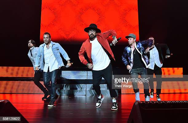 Backstreet Boys perform onstage during 1035 KTU's KTUphoria 2016 presented by Aruba at Nikon at Jones Beach Theater on June 4 2016 in Wantagh NY